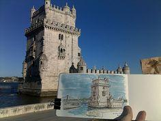 torre belém sketch