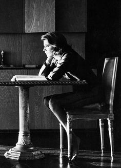"Gena Rowlands on the set of ""The Spiral Road"", photographed by Leo Fuchs [1962]"
