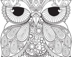 Seth Owl  Colour with Me HELLO ANGEL  by HelloAngelCreative