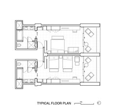 Gallery of JW Marriot Los Cabos Beach Resort & Spa / Olson Kundig - 30 House Layout Plans, Tiny House Plans, Resort Plan, Hotel Floor Plan, Hotel Lobby Design, Spa Interior, Bedroom Layouts, Room Planning, Planer