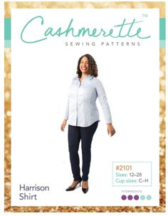 The Harrison Shirt paper sewing pattern from Cashmerette is a fitted button-down shirt that doesn't gape over curves! The Harrison Shirt is designed with double princess seams for a uniquely curve-friendly fit and all the features of a classic shirt. Plus Size Summer Fashion, Plus Size Sewing Patterns, Sewing Blogs, Sewing Projects, Sewing Ideas, Sew Ins, Dress Making Patterns, Sewing For Beginners, Sewing Clothes