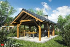 Modern Gazebo, Pavillion, Gazebo Plans, Garden Buildings, Home Fashion, Pergola, Cottage, House Design, Outdoor Structures