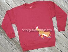 Fox Bean Stitch Applique Design - Pick & Stitch