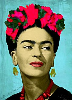 Frida Kahlo digital painting print from www.artdecadence.etsy.com
