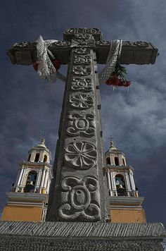 Cruz Atrial. Cholula, Puebla, México