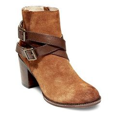 Women's Soho Cobbler Bandito Buckle Wrap Leather Ankle Boots