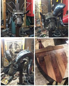 Neat halved metal welding crafts great post to read Welding Crafts, Welding Art Projects, Metal Art Projects, Welding Tips, Metal Crafts, Metal Tree Wall Art, Scrap Metal Art, Metal Art Sculpture, Sculpture Ideas