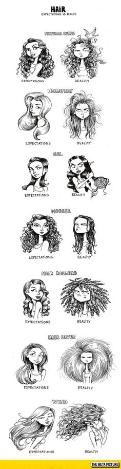 Women's Hair: Expectations Vs. Reality