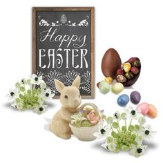 happy easter by trilobitka on Polyvore featuring art