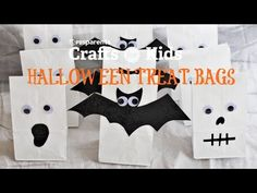 3 ideas for decorating Halloween bags
