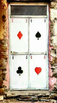 all aces door in boscomare, liguria, italy Knobs And Knockers, Door Knobs, Door Handles, Cool Doors, Unique Doors, Entrance Doors, Doorway, When One Door Closes, Door Gate
