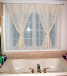 Bathroom Curtains Another Way To Tie Back