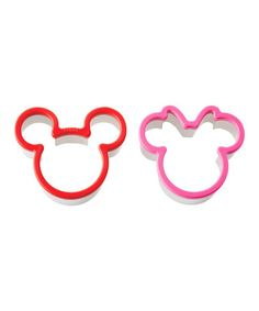 Take a look at this Mickey Mouse & Minnie Mouse Sandwich Cutters by Mickey & Minnie Kitchen Collection on #zulily today!