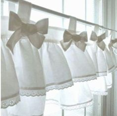 10 Agreeable Cool Tricks: Shabby Chic Curtains Interiors curtains design how to make.Curtains Design How To Make curtains headboard shabby chic.No Sew Curtains Website. Cortinas Shabby Chic, Rideaux Shabby Chic, Shabby Chic Curtains, Curtains With Blinds, Drapes Curtains, Shabby Chic Decor, Luxury Curtains, Elegant Curtains, Double Curtains