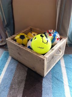 Great little toy chest with castor wheels. We use it for our lads extensive collection of balls. Unfinished, just sanded.