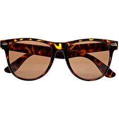 brown tort retro sunglasses - retro sunglasses - sunglasses - men - River Island