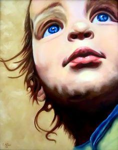 """Child""   Oil on canvas 40x50 cm"