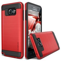 VRS Verge Brushed Metal Galaxy Note 5 Case - Red