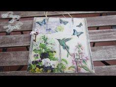 Cuadro de madera hecho con decoupage con relieve y decapado, muy facil - YouTube