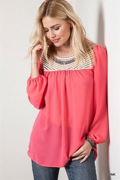 Embroidered Tunic Top - 2 Colors