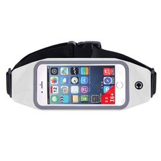 Waterproof Running Belt with Cellphone Pouch and Display Screen - 6 Colors