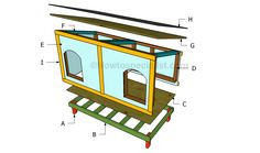 How to build a double dog house | HowToSpecialist - How to Build, Step by Step DIY Plans