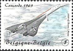 belgian stamps From Blériot till De Winne. ConCorde