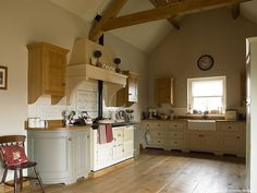 First picture taken and the final image that was created of the kitchen in Sonya & Glen McDowell's barn conversion near Donaghadee in County Down.