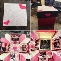 Exploding box I made for my boyfriend for our 2 years together ❤️ #anniversary #explodingbox #diy #boyfriend #forhim #love