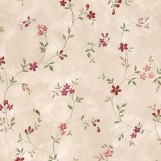 August Grove Dubbo L x W Trail Floral Wallpaper Roll Color: Red Vintage Floral Wallpapers, Cute Wallpapers, Wallpaper Roll, Cool Wallpaper, Vinyl Wallpaper, Wallpaper Downloads, Textile Pattern Design, Victorian Wallpaper, Wallpaper Warehouse