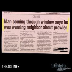 That makes perfect sense. Funny Headlines, Newspaper Headlines, Crazy Stupid, Stupid People, Oh The Irony, Captain Obvious, A Funny Thing Happened, The Neighbor, Perfect Sense