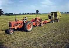 bailing hay | Baling Hay with a Farmall M Tractor