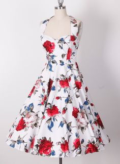 50s halterneck swing pinup retro dress 20127242. Just love this website