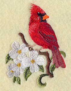Cardinals and Dogwood, Watercolor Print, Red Bird, Flower ...
