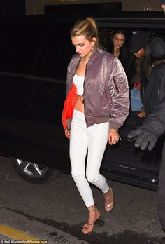 Lily Donaldson leaves Paris hotel ahead of Victoria's Secret fashion show in Paris | Daily Mail Online