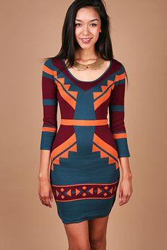 Nordic Knit Dress - Knit Dresses at Pinkice.com $40