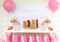 "Fabulous graduation party ideas from ""Donut You Forget About Me"" to ""Nacho Average Graduate"", these ideas are too cool not to share!"