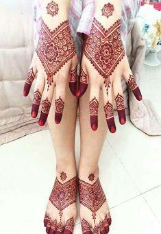 18 Beautiful Henna Tattoo Designs to Try Full Mehndi Designs, Indian Mehndi Designs, Stylish Mehndi Designs, Mehndi Design Pictures, Wedding Mehndi Designs, Beautiful Mehndi Design, Simple Mehndi Designs, Mehandi Designs, Heena Design