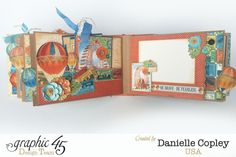 Worlds Fair Mini Album, Worlds Fair, by Danielle Copley, Product by Graphic 45