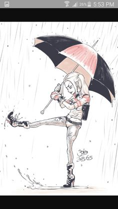Harley Quinn sous la pluie