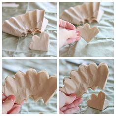 coffee filter roses diy | Next, while holding the filters together in a stack, fold them in ...