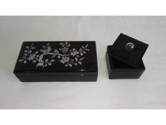 2 Black Jewellery Wooden Boxes w/ mother... is listed For Sale on Austree - Free Classifieds Ads from all around Australia - http://www.austree.com.au/clothing-jewellery/jewellery/women-s-jewellery/2-black-jewellery-wooden-boxes-w-mother-of-pearl_i2448