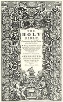 May 2 1611 -  King James Bible published for the first time in London by Robert Barker
