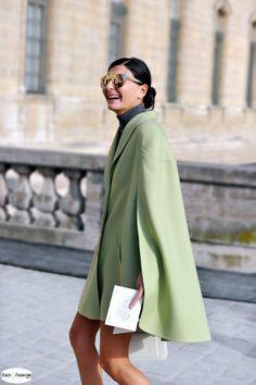that cape. Gio in Paris. #GiovannaBattaglia