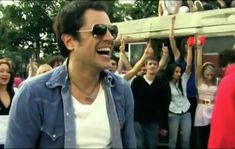 Johnny Knoxville in the music video joker and the thief from wolfmother