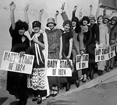 WAMPAS Baby Stars of 1924: Clara Bow, Elinor Fair, Carmelita Geraghty, Gloria Grey,  Ruth Hiatt, Julanne Johnston, Hazel Keener, Dorothy  Makaill, Blanche Mehaffey, Margaret Morris, Marian  Nixon, Lucille Ricksen & Alberta Vaughn.