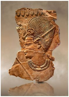 Ancient Egyptian tomb relief sculpture of King Amenhotep III with a blue crown from the grave of Chaemhat, Thebes West. 18th Dynasty 1360 BC. |  © Paul E Williams 2013