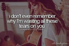 Cassadee Pope--Wasting All These Tears
