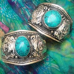 ॐ Stunning Tibetan Turquoise Cuff- only £15 (AUS $26.85, €18.76, US $23.50) ॐ Check out our website for more at www.ohmboho.com ☮ #ohmboho #jewellery #jewelry #bracelet #cuff #tibetan #silver #turquoise #filigree #boho #bohemian #hippie #hippy #ethnic #gypsy #native #indie #style #fashion