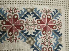 Cross Stitch Designs, Cross Stitch Patterns, Cross Stitch Embroidery, Hand Embroidery, Needlepoint, Bohemian Rug, Projects To Try, Crochet, Fabric